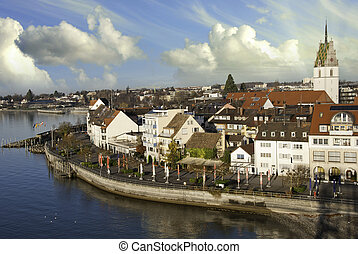 Typical Homes and Buildings of Friedrichshafen, germany