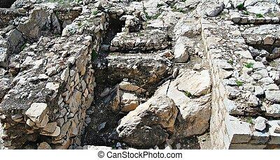 arqueológico, restos
