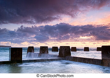 Dawn at Coogee - Sydney Beach - Dawn at a tidal pool in...