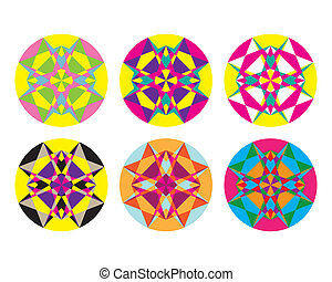 Kaleidoscope geometric pattern Abstract vector background