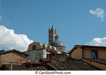Cathedral of Siena -  seen from the rooftops