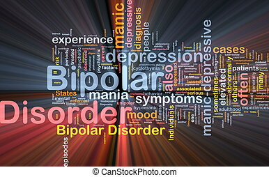 Bipolar disorder background concept glowing - Background...