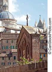 Siena Cathedral seen from the house - seen from the house of...