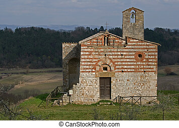 S. Ippolito and Cassiano Church - Francigena road near Colle...