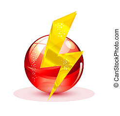 elegance and magic power symbol red color isolated