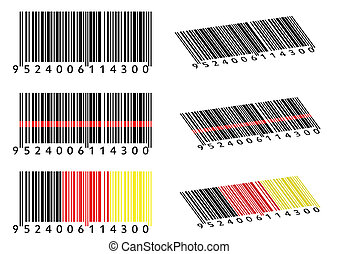 Various Bar Codes isolated