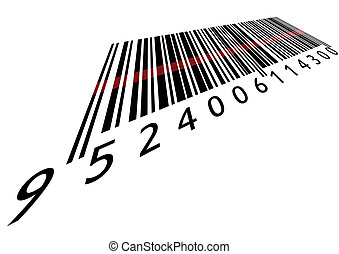 Bar code with laser