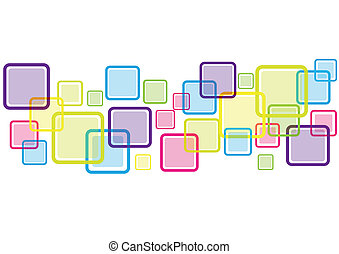 Abstract Square Background isolated