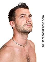 attractive man close up