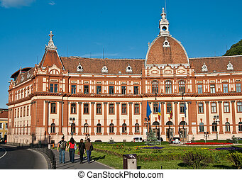 Brasov Landmark - Central administration building of Brasov...