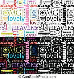 Yummy Seamless Pattern - seamless pattern with typography...