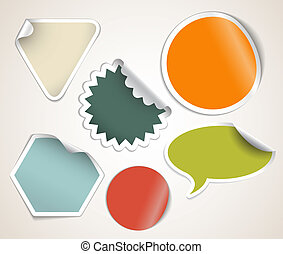 Retro colored labels badges and stickers - Set of labels...