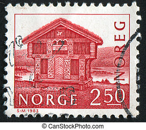 postage stamp - NORWAY - CIRCA 1983: stamp printed by...