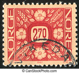 postage stamp - NORWAY - CIRCA 1987: stamp printed by...
