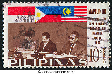 postage stamp - PHILIPPINES - CIRCA 1965: stamp printed by...