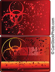 Cards with biohazard sign