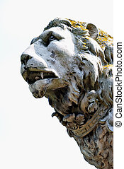 stone lion - detail of stone lion
