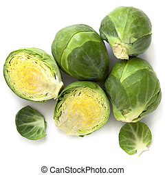Brussel Sprouts - Brussel sprouts, isolated on white...