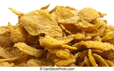 cornflakes - delicious cereal cornflakes pile texture,...