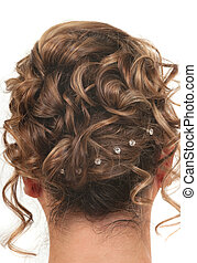 Hair Style - Hairstyle for prom, wedding or party