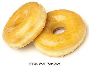donuts - sugary donut isolated on a white background