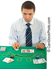Gambler man in casino