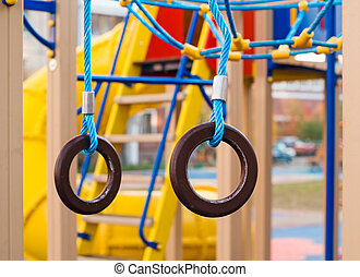 Gymnastic rings at the playground - Gymnastic rings at the...