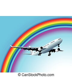 Flying to the rainbow