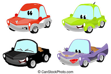 cute cartoon car characters  - cute cartoon car characters
