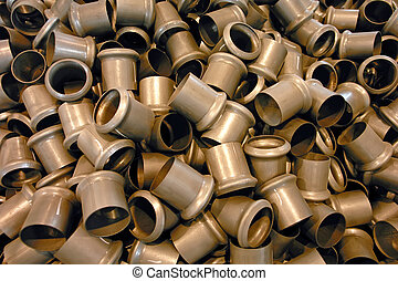 Steel parts - Cut steel tubes processed in the press-shop