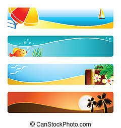 Beach banner backgrounds