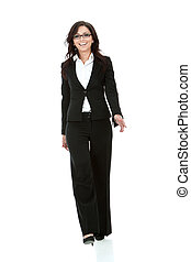 business woman walking - picture of a young business woman...