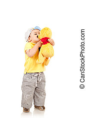 boy playing with is toy