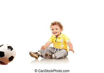 little boy waiting to play - Adorable little boy waiting to...