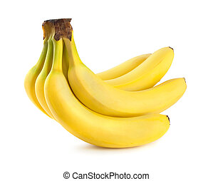 bananas - Bunch of bananas. Isolated on white background.