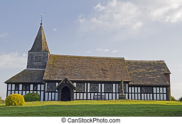 Old country church in Cheshire England