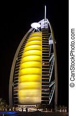 Burj Al Arab in the night