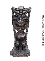 Ancient - an ancient deity of Hawaiian residents isolated on...