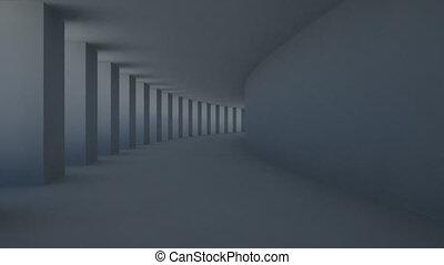 corridor pillar - abstract corridor
