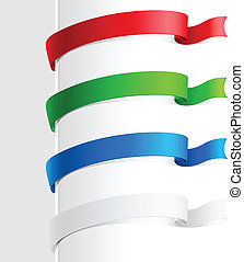Colorful abstract ribbon Illustration on white background