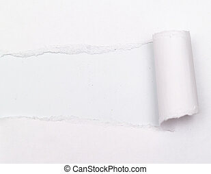 Paper - white background visible through the gray paper...