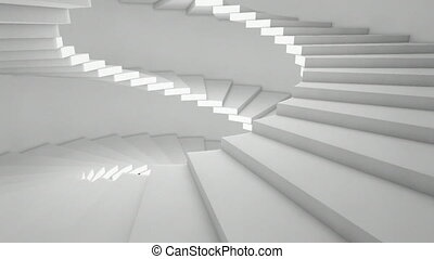 stairs lateral - endless spiral staircase