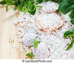 Sea Salt in Shells with Mint