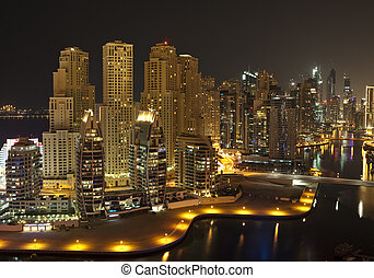 City in the night , Dubai
