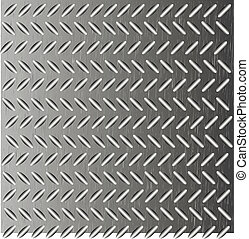 Abstract background as corrugated metal. Vector...
