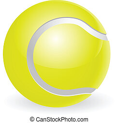 Tennis ball illustration - An illustration of a traditional...