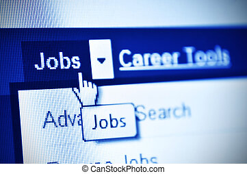 Jobs search - search jobs using internet- detail of webpage