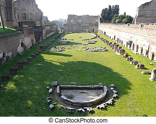 The Roman Forum in Italy - Building ruins and ancient...