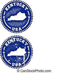 Kentucky USA Stamps