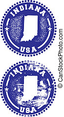 Indiana USA Stamps